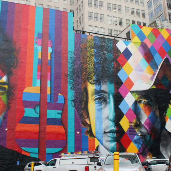 Bob Dylan Mural, Downtown Minneapolis, MN