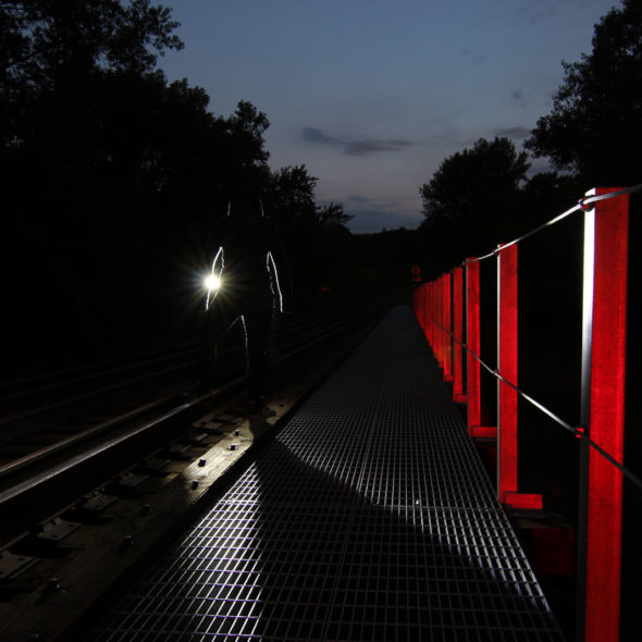 Follow the Light - Long Exposure by Courtney Celley