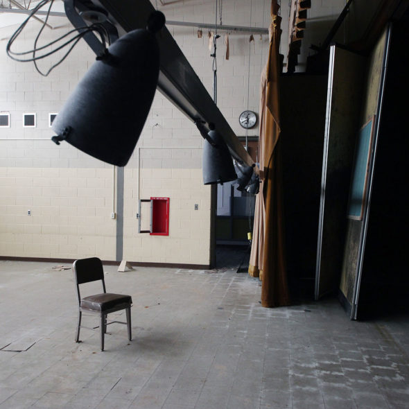 In the Spotlight at an Abandoned School by Courtney Celley