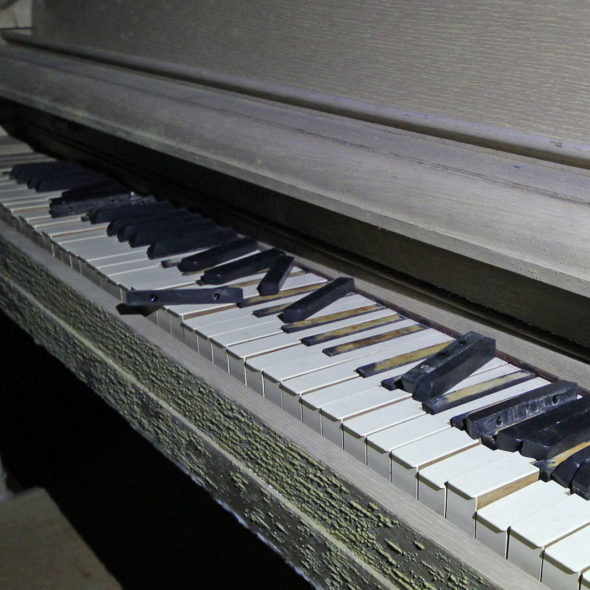 Piano Lessons in an Abandoned School by Courtney Celley