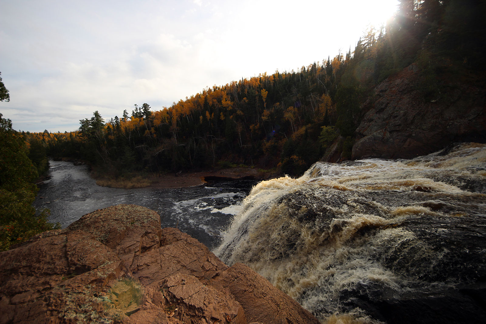 High Falls at Tettegouche State Park by Courtney Celley