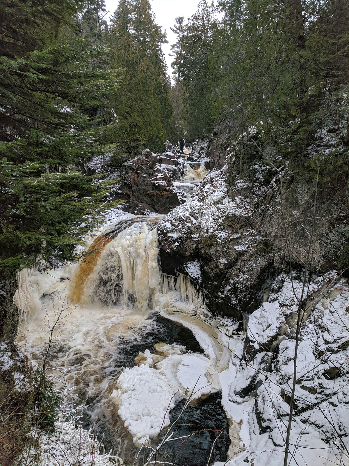 Cascade Falls in November by Courtney Celley
