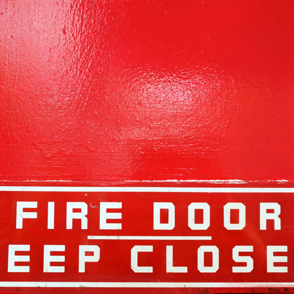Fire Door, Keep Closed by Courtney Celley