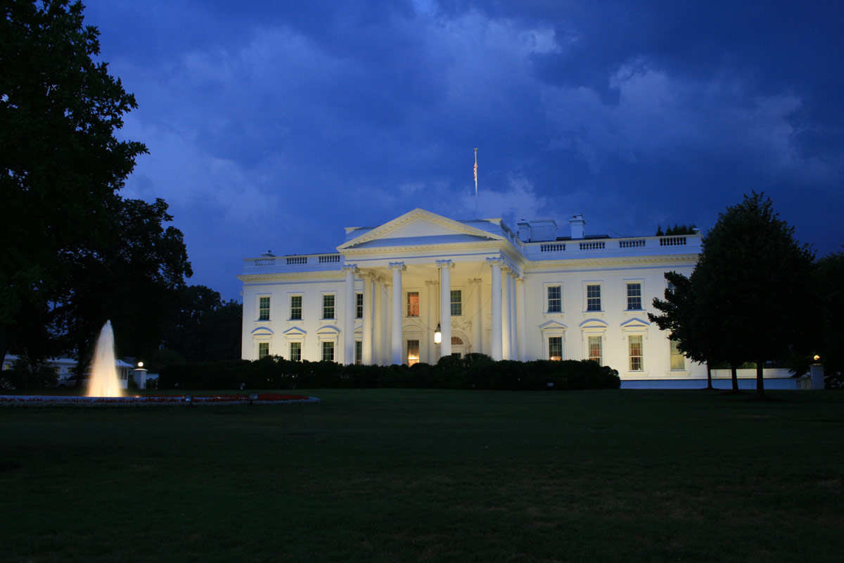 the white house at night courtney celley. Black Bedroom Furniture Sets. Home Design Ideas
